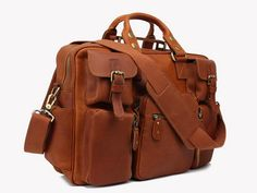 Shimla Leather Carry On Satchel, Toffee Brown