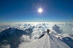 Arriveee au sommet du Mont-blanc