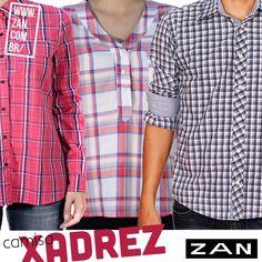 Camisa xadrez para completar o look de hoje! #VaideZan