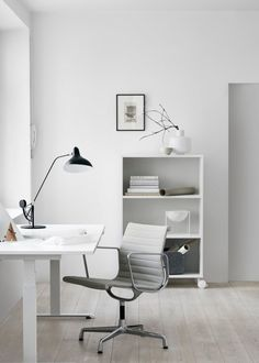 A Bright White Workspace to Inspire Your Week - Apartment34