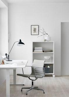 bright white workspace