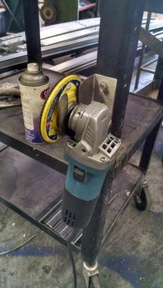 Simple angle grinder holder