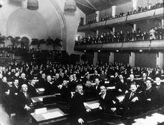 The League of Nations was similar to the UN, and was formed after WWI. However, it was much less powerful and relatively ineffective.