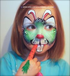 Easter Bunny Face Painting
