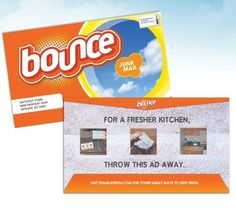 Should #Bounce be taking notes from #MiamiAdSchool students? This brilliant concept #ad highlights a different way to use dryer sheets. #directmarketing #directmail #advertising