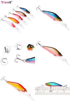 [Visit to Buy] 1PCS  Minnow Fishing lures Pesca wobbler 5 Colors 10cm 8g Hard Bait isca artificial Big mouth Fishing Tackle WQ8039 #Advertisement