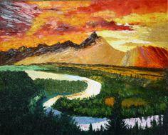 landscape pallete knife colours - wow! cp