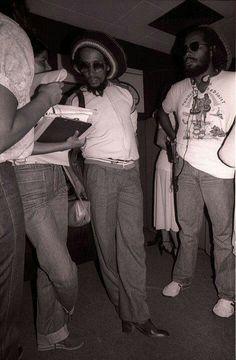 Bob Marley & Jacob Miller hangin' out