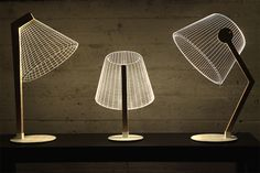 2D optical illusion lamp by BULBING - So want one of these!