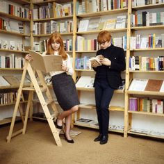 Jane Asher with Peter Asher. Indica Bookshop. 1966