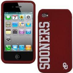 Silicone Case for iPhone 4 - Oklahoma Sooners - Retro Series - Crimson