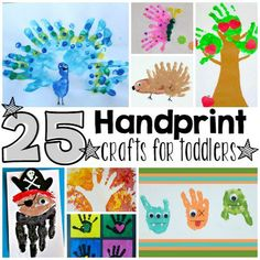 These 25 Precious Handprint Craftsfor Toddlers are a wonderful way to save memories of your little ones for when they get bigger. Plus, these ideas will inspire you for other handprint projects you might want to try. Have fun! Your little nut will love making this cute handprint acorn. Via Crafty Morning If your child is out of this world, then these monstersare for you. Via Meet The Dubiens The apples never fall far from the tree, especially when it comes to handprints! Via All Kids…