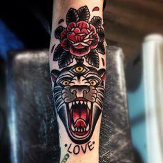 sarah keeley tiger rose traditional tattoo