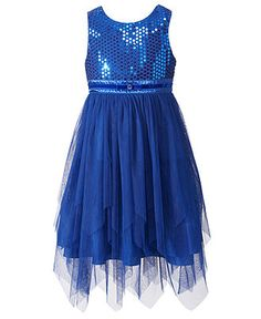 Fall Girls Dresses 7 16 Girls Dark Blue Dresses