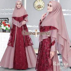 Rabiya Set syari by Amina Mernizi Dress Muslimah, Dress Brukat, Hijab Fashion, Women's Fashion, Brokat, Sewing Techniques, Cute Art, Sewing Projects, Board