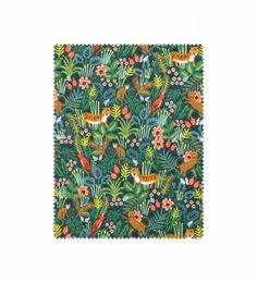 Our Jungle fabric features whimsical animal illustrations against a vibrant green background. Cotton + Steel's 100% cotton fabric is ideal for creating garments, accessories, quilts, and other home décor items. Please note that because fabric is cut to order, it may not be returned or exchanged.