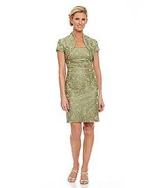 $190 in Sage KM Collections Filigree Jacket Dress #Dillards