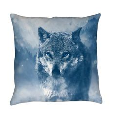 Winter Snow Wolf Animal Mystical Everyday Pillow