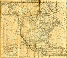 Early Map of the North American continent