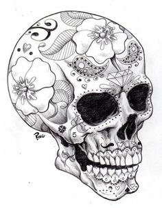 Sugar Skull ♥! Something like this painted on my pumpkin will be great.