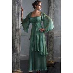 Batwing Sweetheart Flower Empire Wasit Chiffon Satin Mother Of Bride Dress  $268.00