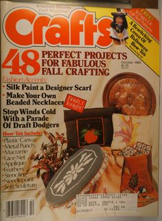 https://flic.kr/p/w28GDM | Crafts October 1984 | $6.00 each plus Shipping.