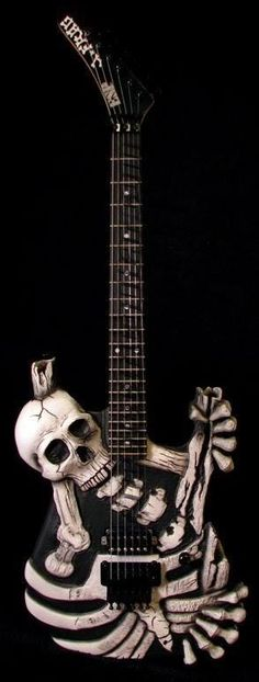 ESP CUSTOM SKELETON ELECTRIC GUITAR  HEAVY METAL T-SHIRTS and METALHEAD COMMUNITY BLOG. The World's No:1 Online Heavy Metal T-Shirt Store & Metal Music Blog. Check out our Metalhead Clothing and Apparel Store, Satanic Fashion and Black Metal T-Shirt Stores; https://heavymetaltshirts.net/