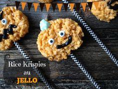 Quand les Rice Krispies et le Jello s'unissent pour se transformer en Citrouilles!