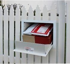 Mail Drop Box, Parcel Drop Box, Large Mailbox, Diy Mailbox, Mailbox Ideas, Drop Box Ideas, Cabana, Home Mailboxes, Compound Wall