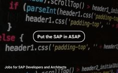 Jobs for SAP Developers and Architects #Fortune500 #Technology #Programming https://tapwage.com/channel/sap-d