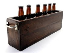Six Bottle Beer Box Cooler by EALongAndCompany on Etsy
