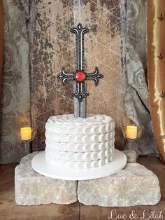The Perfect Medieval Knight Birthday Cake