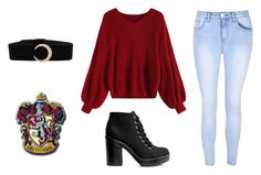 """""""Brooke Outfit #1"""" by sylveon13 ❤ liked on Polyvore featuring Glamorous and H&M"""
