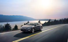 Download wallpapers Honda Clarity Plug-in Hybrid, 4k, 2018 cars, road, new Clarity, Honda