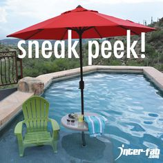 Check out our NEW Pool Lifestyle Umbrella Table designed for use with in-pool sun decks! Taking orders now!  #newproduct #interfab