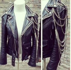 Christian Benner jacket if u please... would love to line the collar of a leather jacket in studs