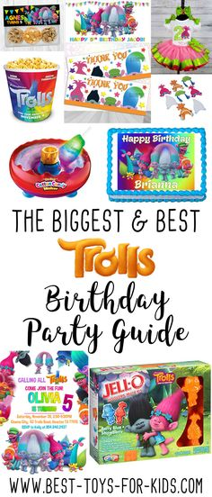 The BIGGEST & BEST Dreamworks Trolls Birthday Party Guide - Birthday Party Supplies, Decorations, Invitations, Ideas & More