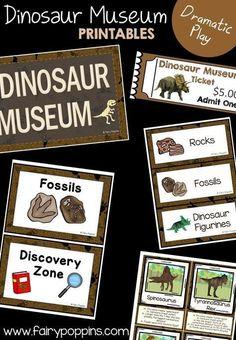 Dinosaur Museum and Souvenir Shop dramatic play printables ~ Fairy Poppins Dinosaur Classroom, Dinosaur Theme Preschool, Dinosaur Play, Dinosaur Activities, Dinosaur Printables, Toddler Activities, Eyfs Classroom, Future Classroom, Science Activities