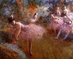 Jean-Louis Forain, Danseurs en rose.
