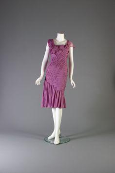 DIOR by John Galliano, Mauve chiffon cocktail dress, Haute couture, S/S 2007.