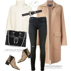 Camel coat by gold-candle23 on Polyvore featuring moda, Topshop, Rochas, Hudson, Whistles, Gucci, Yves Saint Laurent and H&M