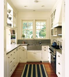 So sweet. If I ever have a kitchen of my own, I wouldn't be sad if it was this small, as long as it was thic sweet!
