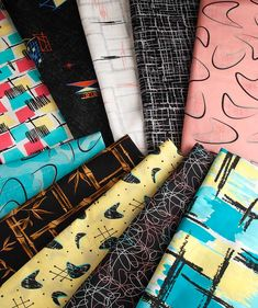 retro 50s fabrics - 20th Century Cloth