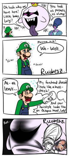 Mario And Luigi Games, Mario Bros., Mario Kart, Super Mario Memes, Super Mario Art, Mario Funny, Mario Comics, Luigi's Mansion 3, King Boo