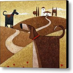 Road To Tuscany Canvas Print / Canvas Art By Peter Adderley