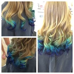 Mermaid ombre-- favorite color I've done to date