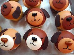 easy puppy cupcakes with fondant