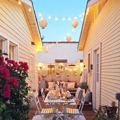 This cozy deck is basically a dream hang-out space