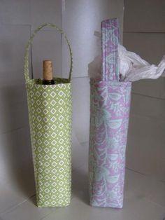DIY Wine gift bags DIY Crafts DIY Bag  Wine Bottle Gift Bag from Tavie Meier 9467663732190