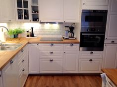 ikea bodbyn - don't like the look of this kitchen but we will use the cabinets with different hardware